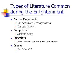 the age of reason in america the revolutionary period ppt  15 types of literature common during the enlightenment formal documents