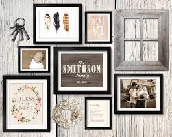 asymmetrical vintage rustic family gallery wall idea with paper wreath vintage keys and barn wood