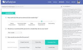 Review Employee Employee Performance Review Software Reflektive