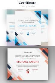 Corporate Certificate Template Michael Knight Corporate Modern Certificate Template