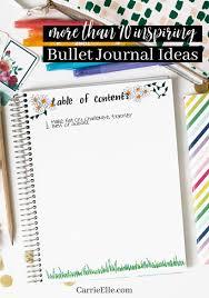 Bullet Journal Ideas Carrie Elle