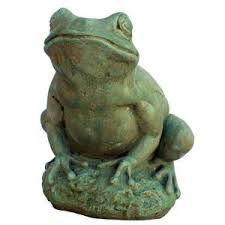 garden frog statue. Cast Stone Tree Frog Garden Statue - Weathered Bronze-GNFT-WB The Home Depot