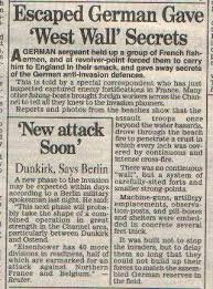 world war newspaper cuttings