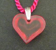 lalique small pink heart pendant reverse 18c039b