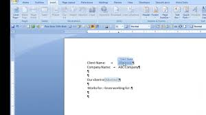 Microsoft Word Update All Fields Repeat Text In Ms Word Using Document Property Content Controls