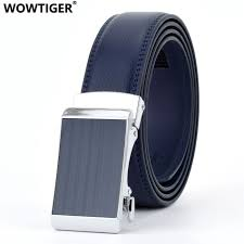 Mens Blue Designer Belts Us 9 46 57 Off Wowtiger Blue 3 5cm Fashion Designer Belts For Men Sliding Buckle Ratchet Men Belt Automatic Fashion Ceinture Homme In Mens Belts