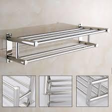 stainless steel wall mounted towel rack hanger bathroom caddy holder storager