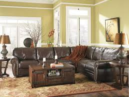 brown leather living room furniture. Charming Worn Leather Brown Living Room Furniture