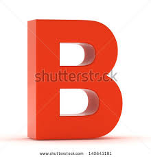 stock photo the letter b red plastic