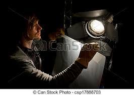lighting technician. Lighting Technician And Studio Light - Csp17888703 H
