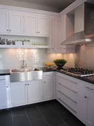 kitchen floor tiles with dark cabinets. Plain Tiles Kitchen White Cabinet Dark Grey Floor Tiles On With Cabinets A