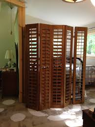 Plantation Shutters Repurposed As A Room Divider Apartment Ideas