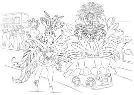 Carnaval Kleurplaat