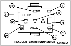 solved 86 mustang head light switch pin out connectors fixya 86 mustang head light switch pin out connectors 7fc8945 gif