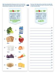 Grocery List Fascinating Free Printable Grocery Shopping List For Kids Tutor Time
