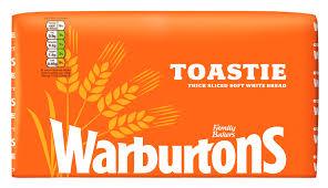800g White Toastie White Bread Warburtons