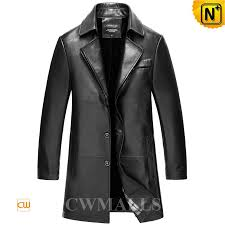 black leather trench coat cw816026 cwmalls com