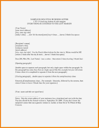 Block Style Letter Template Formal Format Grade Copy Business As Of