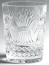 crystal old patterns millennium series prosperity double fashioned glass waterford vase identification