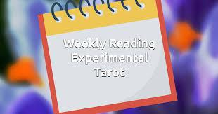 free weekly experimental tarot reading