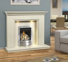 Marble in noble white color creates a dazzling fireplace perfect for a  slightly modern household with black interior adorned with glass and black  thin ...