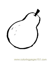 Small Picture Pear 1 Coloring Page Free Pears Coloring Pages