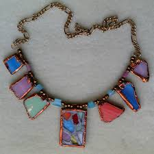 stained glass necklace no soldering 7 steps with pictures