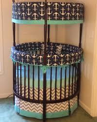 Circular Crib Bedding Anchor Round Crib Bedding Made To Order Deposit Round Cribs