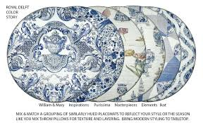 blue round placemats royal delft and blue round set of 4 blue table mats and coasters