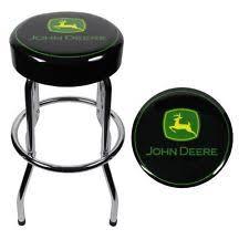 John Deere Garage Stool Shop Kitchen Bar Area Chrome Steel Sturdy Easy  Assembly EBay