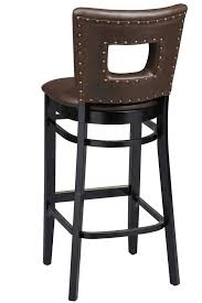 ... Upholstered Regal Seating Series 2426 Wooden Commercial Bar Stool -  Upholstered Cut-Out Back, ...