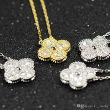 whole flowers diamond pendant necklace womens lucky 14k gold necklace woman wedding party necklaces gold jewelry rose gold necklace from t1 jewelry