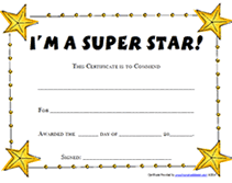 award certificates template printable super star award certificates templates