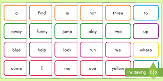 You can use them in english classes to teach how to you can teach children about colour theory or even use these flashcards as prompts for colourful artwork. Dolch Words Pre Primer Flash Cards Teacher Made