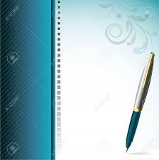 Stylish Pen And Elegantly Decorated Page
