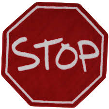39 inch hexagon stop sign red area rug fun time