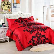 medusa lotus black red duvet cover set us full queen uk king size