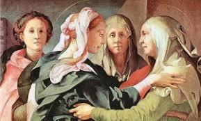 Risultati immagini per Immagini di pittori particolarmente belle Maria incontra Elisabetta