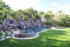 natural looking in ground pools. Pool With Natural Looking Rock Waterfall Feature Natural Looking In Ground Pools O