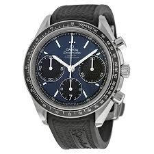 omega speedmaster racing automatic chronograph blue dial stainless omega speedmaster racing automatic chronograph blue dial stainless steel men s watch 32632405003001