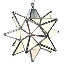full image for moravian star pendant light frosted glass silver frame 12 moravian star pendant light