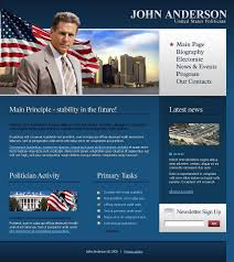 Political Candidate Website Template 20625