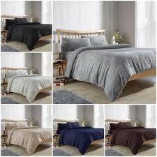 details about teddy bear fur sherpa fleece duvet cover pillowcase s bedding bed linen set