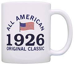 90th birthday gifts for all 1926 all american clic patriotic gift coffee mug tea cup white