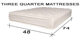 mattress sizes 3 4. Fine Sizes Three Quarter Mattress 48 X 74 Antique Bed Replacement Innerspring  Mattresses And Mattress Sizes 3 4