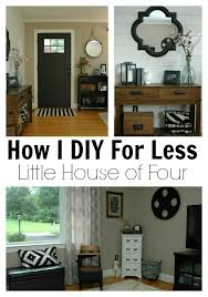 diy for less a thrifty entryway and living room makeover via little house