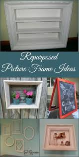 Old picture frame ideas Crafts Repurposed Picture Frame Ideas From My Repurposed Life Shadow Box Chalkboard Easel Gallery Pinterest 555 Best Repurposed Frames Images In 2019 Christmas Time Merry