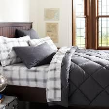 dark grey comforter set solid sham gray pbteen 7