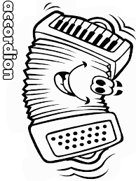 Accordion Face Music Coloring Pages Coloring Page Book For Kids