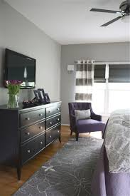Purple Bedroom Color Schemes The Yellow Cape Cod Dramatic Master Bedroom Makeoverbefore And